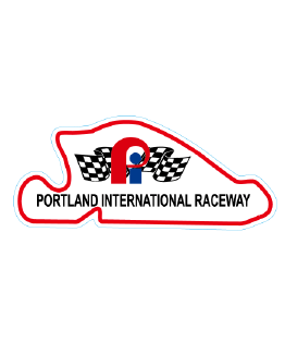 Portland International Raceway Red Track Outline Sticker